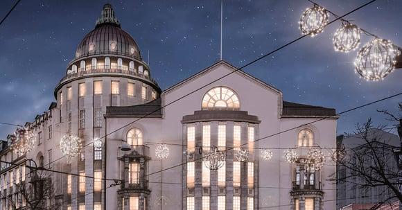 Satavuotias kattokupoli haastaa rakennesuunnittelijat Grand Hansa -hotellissa