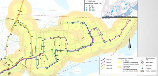 Rantakylä-Utra osayleiskaavan liikennesuunnitelma