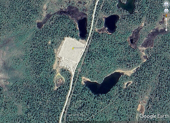 EISCAT Karesuvanto GoogleEarth Sodankylän Geofysiikan Observatorio