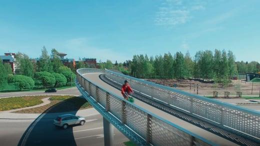 Matinkartanonsilta on rakennesuunnittelun ideoista tehty