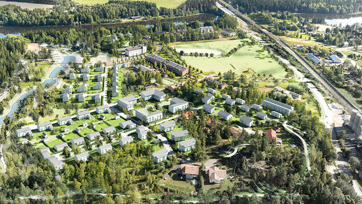 Pioneeripuisto - the Housing fair area, Kouvola