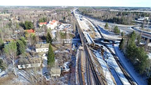 Uusi kaksoisraide lisää tavaran liikkumista Karjalan radalla