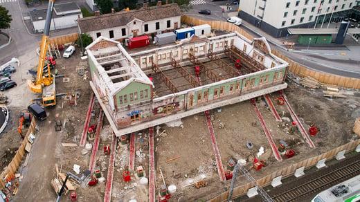 Tampereen tavara-aseman onnistunut siirto vaati ainutlaatuista rakennesuunnittelua