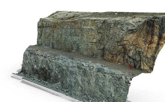 Fotogrammetrinen mallinnus mahdollisti tiiviin kalliolujitusten suunnitteluaikataulun