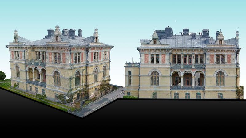Pikkupalatsi Tampereella mallinnettiin pistepilvidatan avulla.