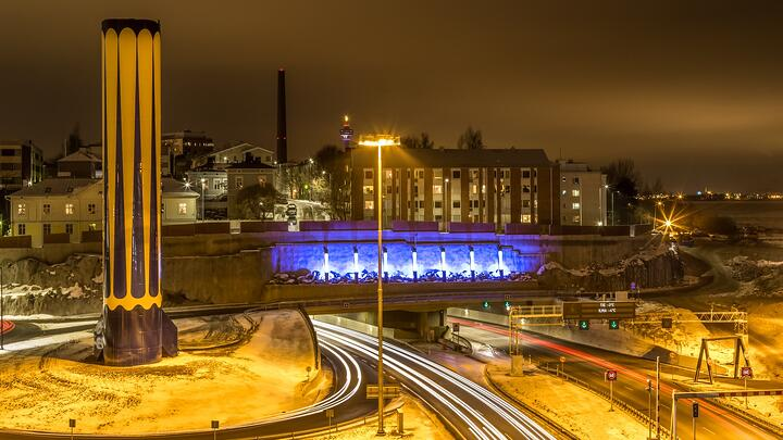 Tampereen Rantatunneli on maanalaisen rakentamisen taidonnäyte.
