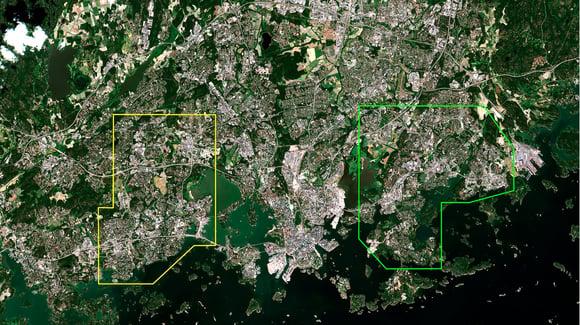 Viheralueiden ja asuntojen arvon yhteyttä tutkitaan satelliittidatan avulla