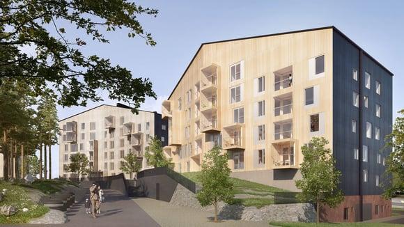 Jyväskylän Puukuokka-puukerrostaloille ARAn laatupalkinto