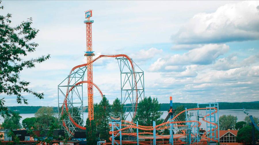 Huvipuistolaite Boom, Särkänniemi, Tampere