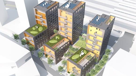 Keski-Pasilaan tornitalokortteli opiskelijoille – suunnittelussa korostuu korkea rakentaminen ja meluntorjunta