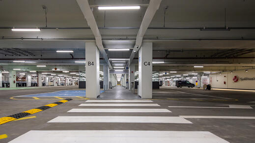 Tampere University Hospital renovation project 2020: AP parking facility, Tampere