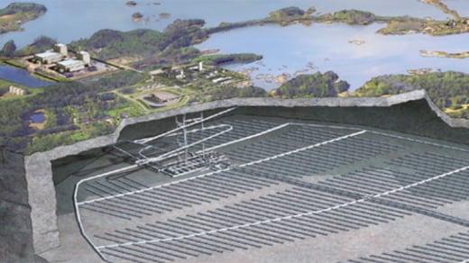 SKB, käytetyn ydinpolttoaineen loppusijoituslaitos, Forsmark, Ruotsi