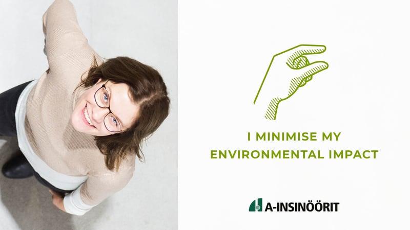 I minimise my environmental impact