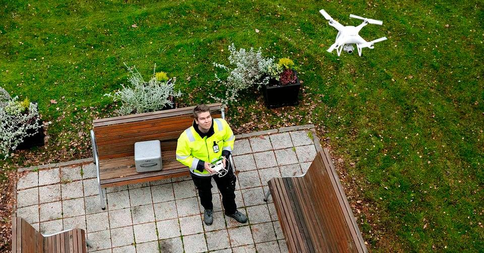 Kopterikuvaus ja siitä luotu 3D-malli helpottaa taloyhtiön julkisivuremonttia.