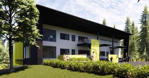 Tampereen uusi kaupunginarkisto suunnitellaan elementti kerrallaan