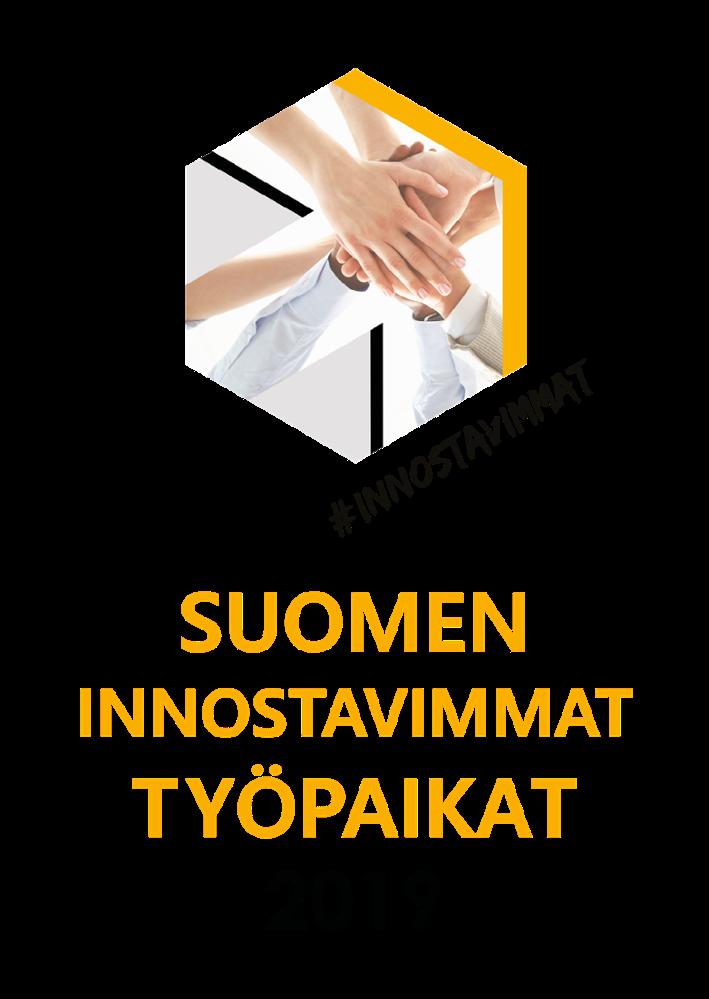 Innostavimmat työpaikat 2019 -logo pysty-2